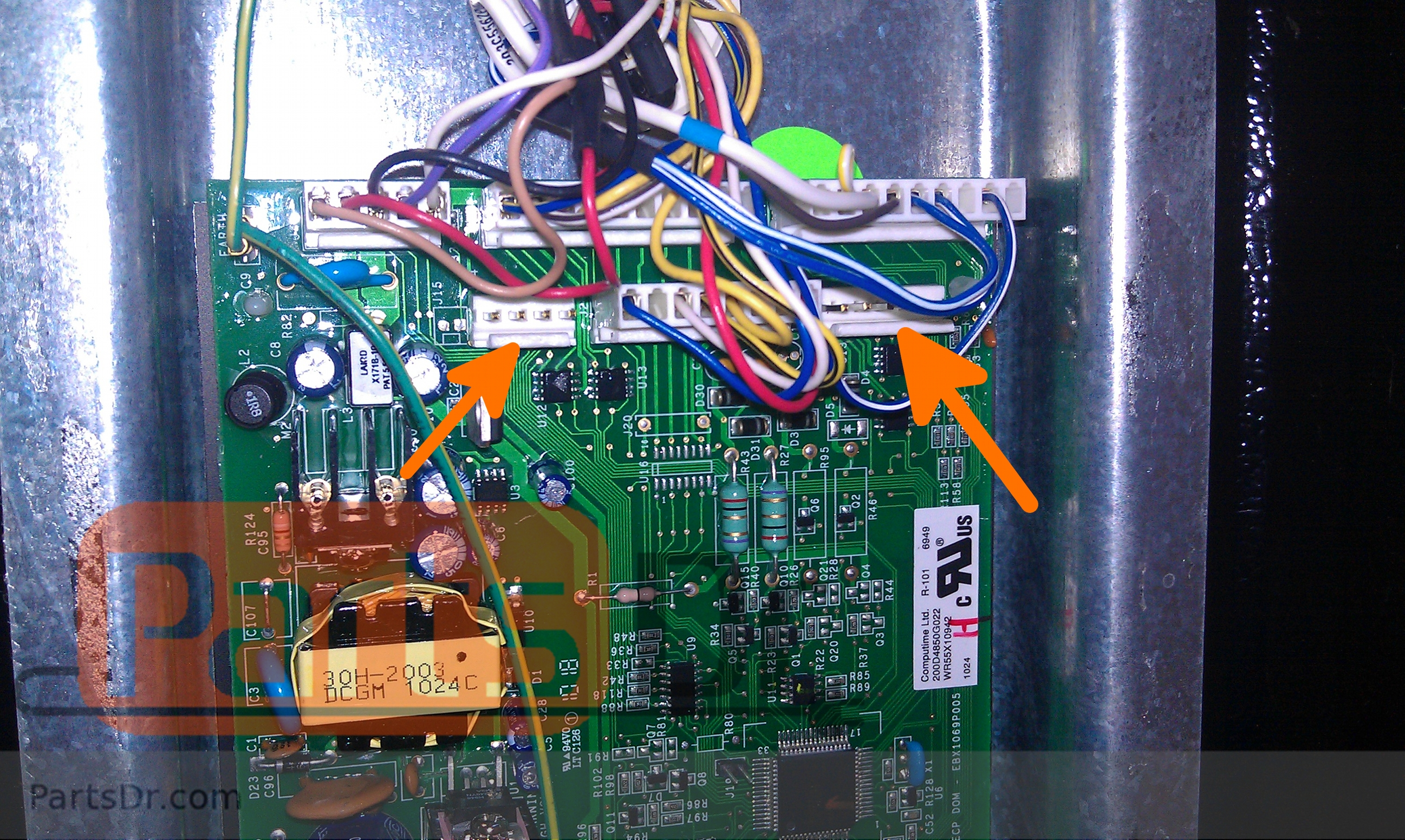 how to install ge wrx main control board included